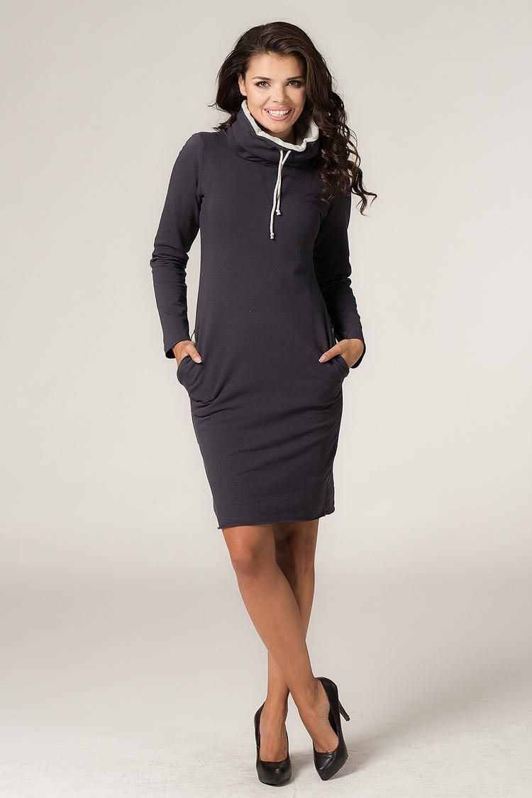 Sukienka Model Kaja 2 Navy/Light Grey - Tessita