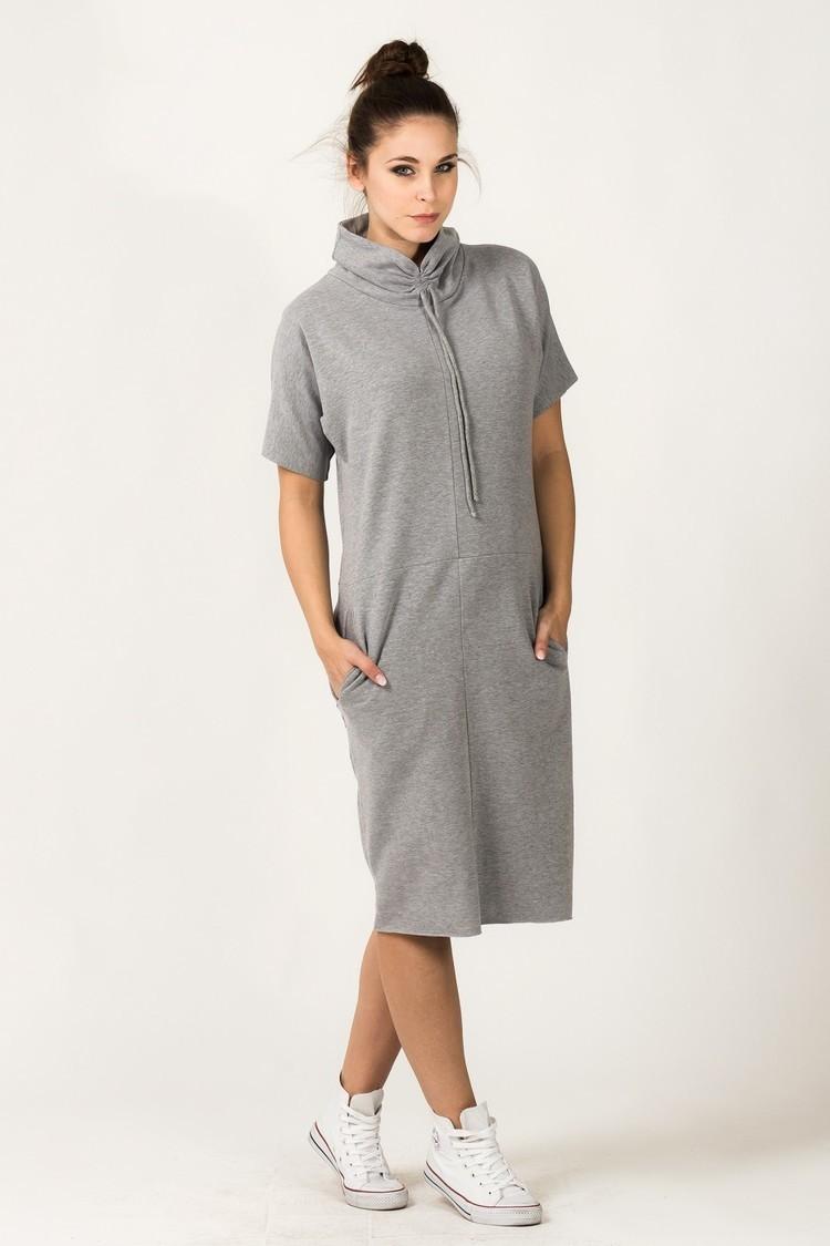 Sukienka Model Irmina 2 Light Grey - Tessita