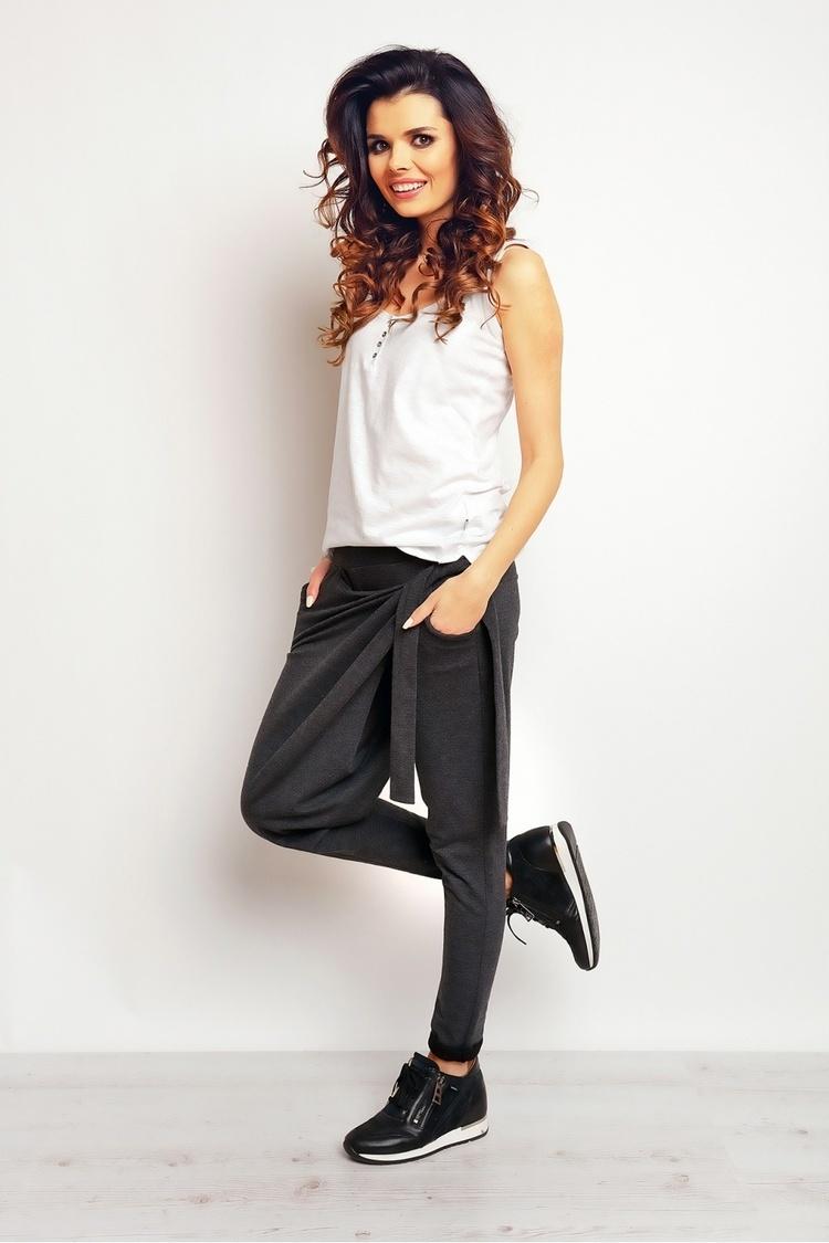 Spodnie Dresowe Model M092 Grafit - Infinite You