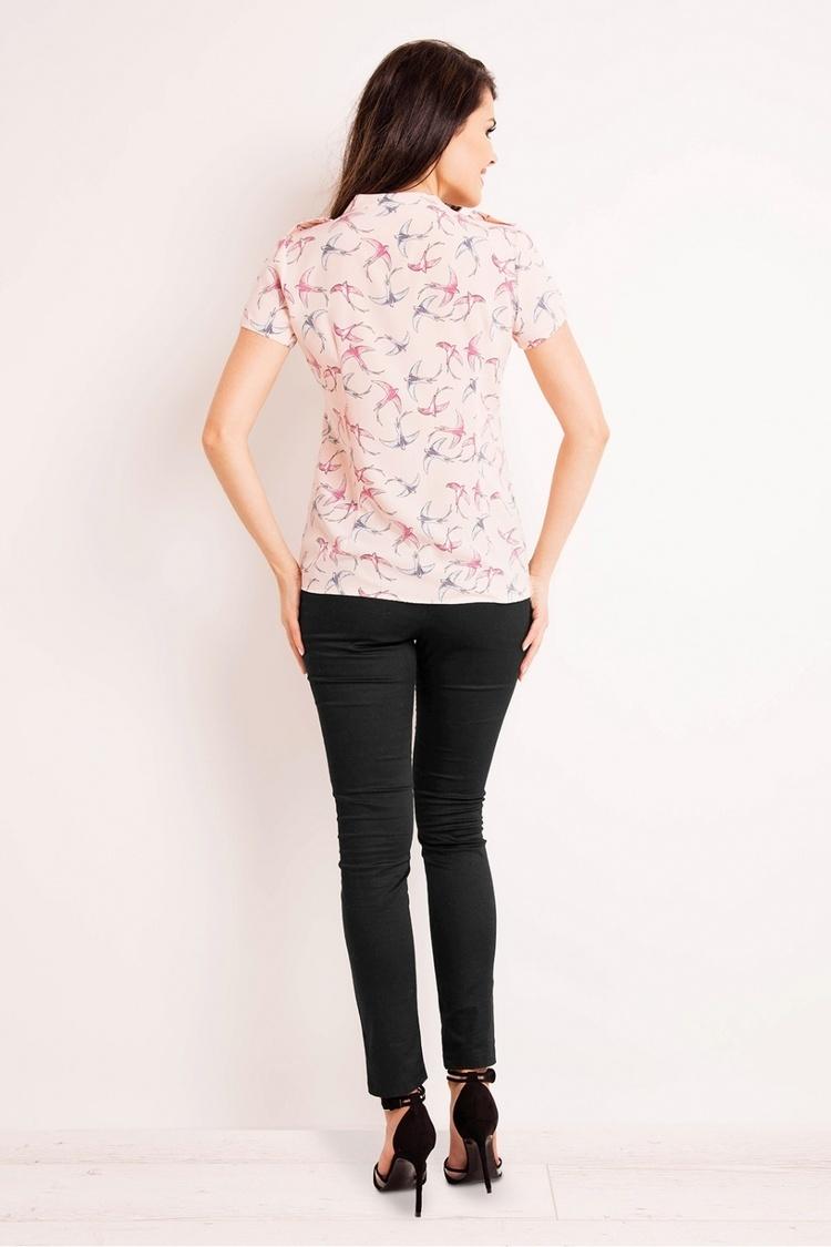 Koszula Damska Model M127 Pink Ptaki - Infinite You