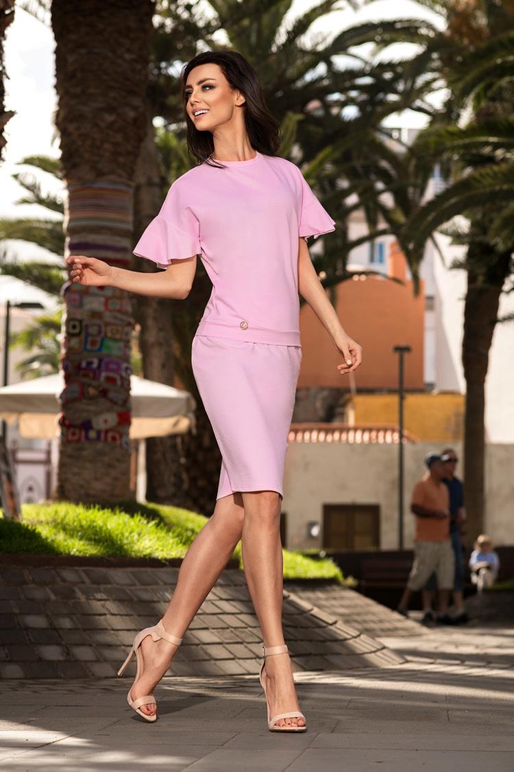 Sukienka Komplet Model L233 Powder Pink - Lemoniade