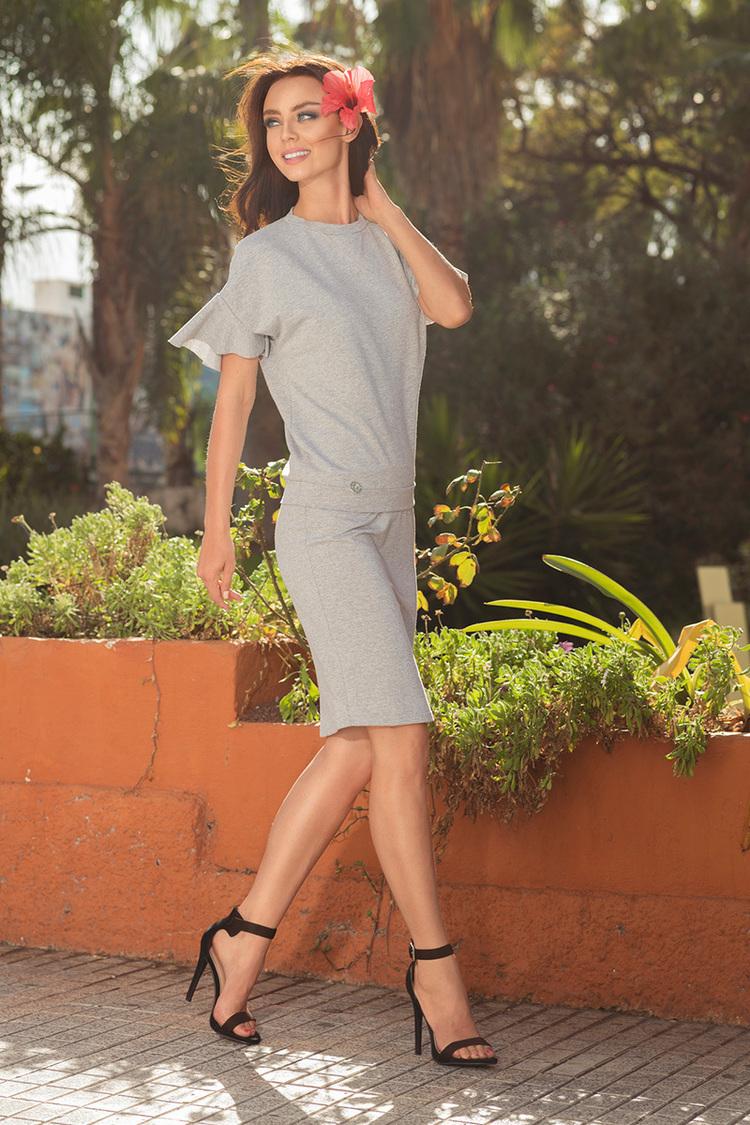 Sukienka Komplet Model L233 Light Grey - Lemoniade