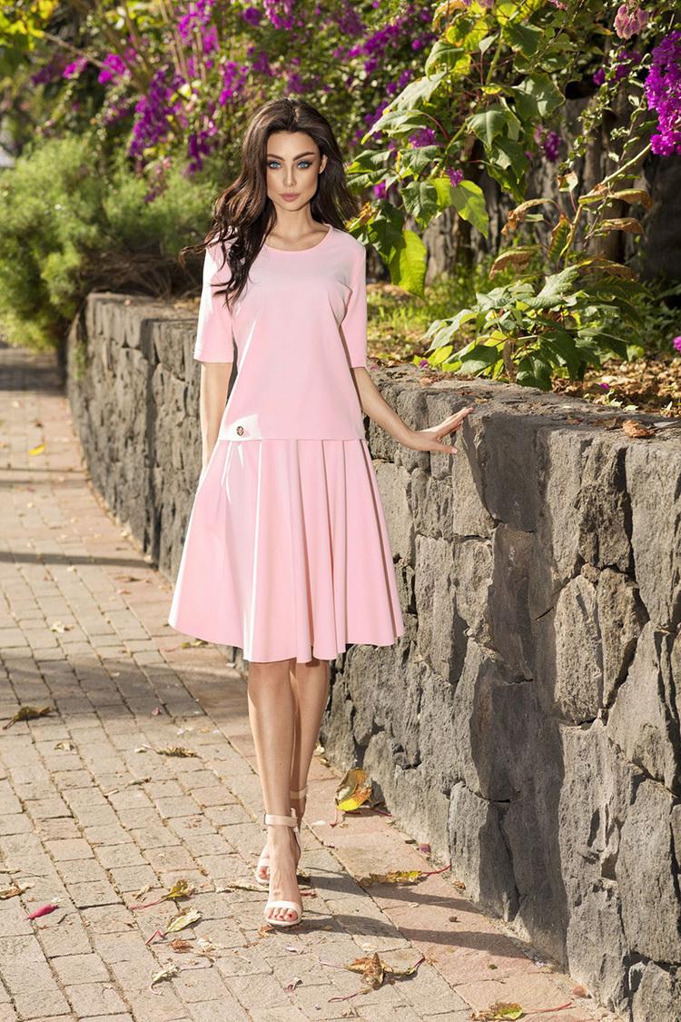 Sukienka Komplet Model L237 Powder Pink - Lemoniade