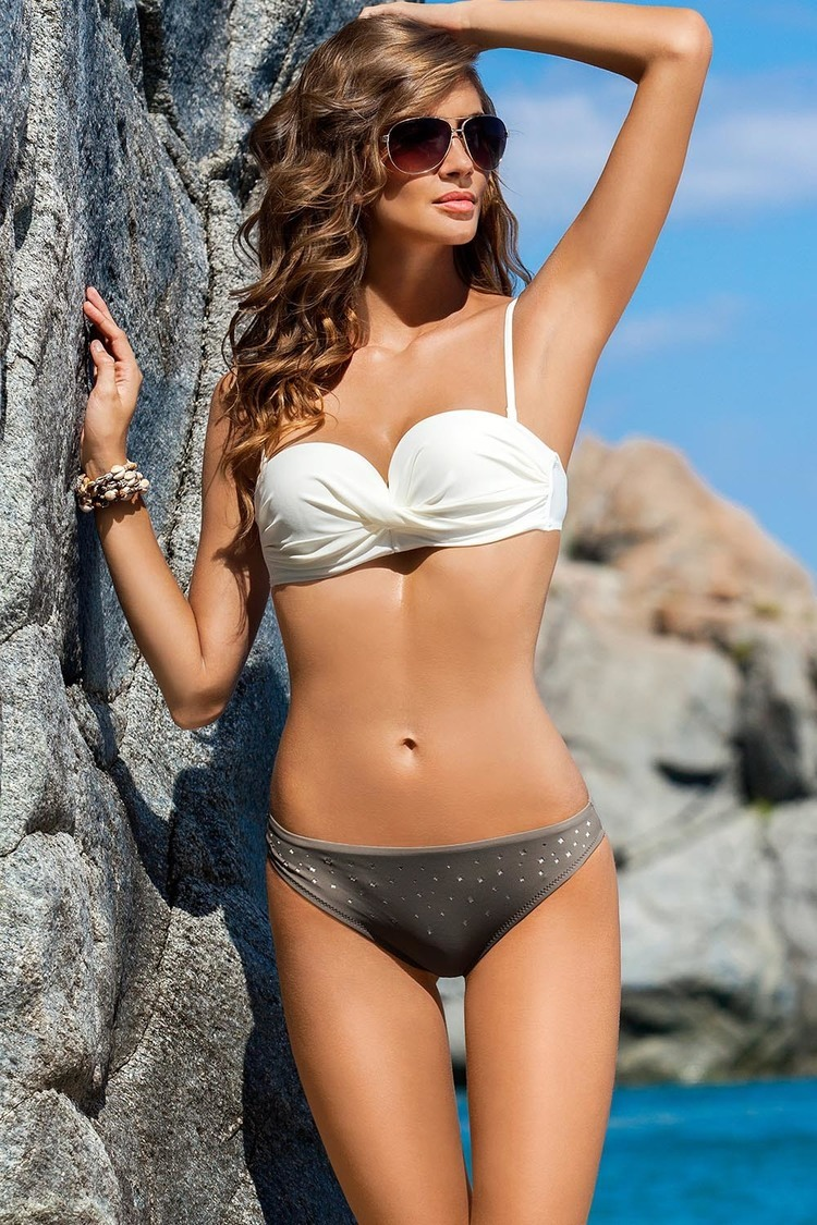 Kostium dwuczęściowy Kostium Kąpielowy Model Samba I Ecru/Beige - Ewlon