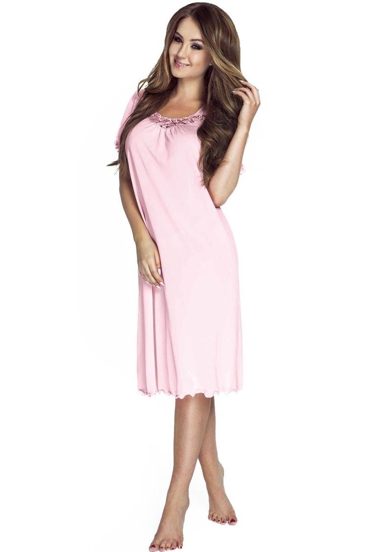 Koszulka nocna Koszula Nocna Model 4112 Pink - Mewa