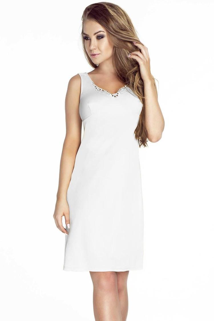 Koszulka nocna Halka Model 1094 White - Mewa