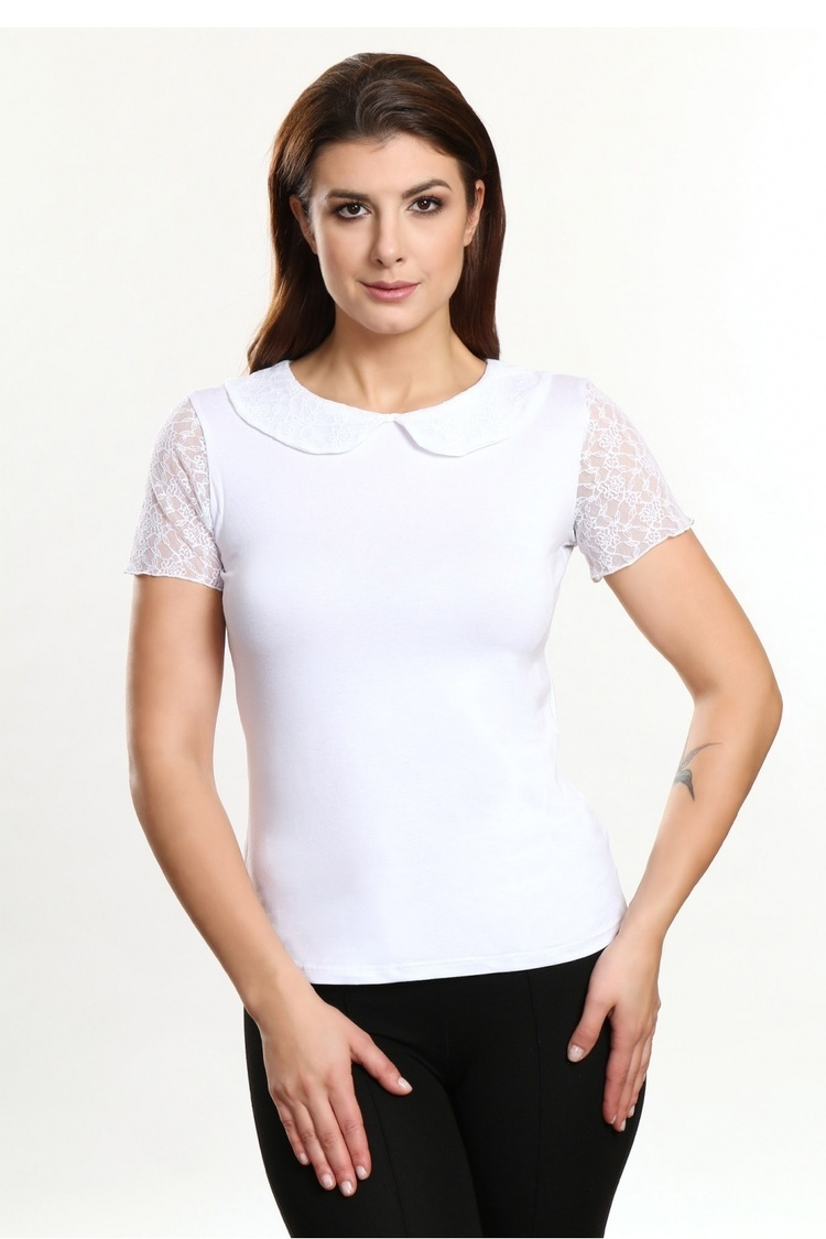 Bluzka Model Jacke White - Violana