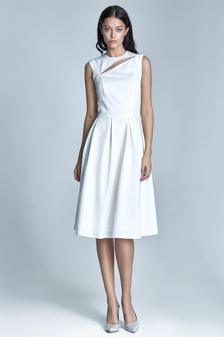 Sukienka Model Ann S73 1214 Ecru - Nife