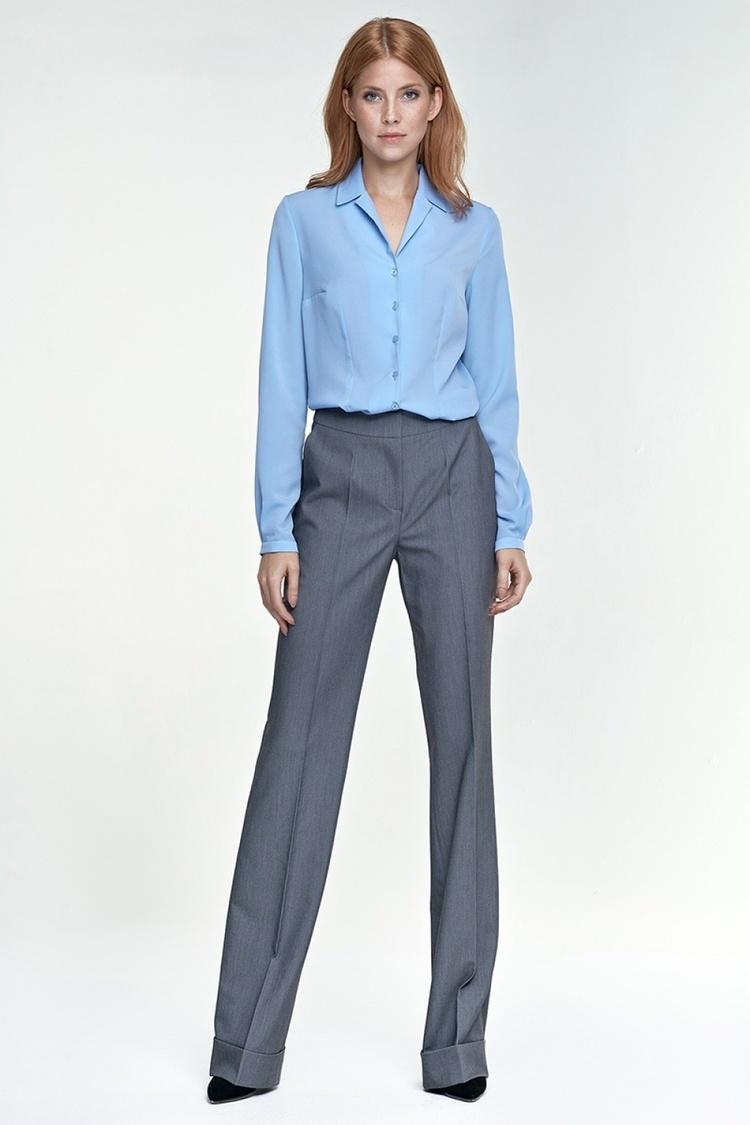 Spodnie z mankietem SD26 szary - Nife