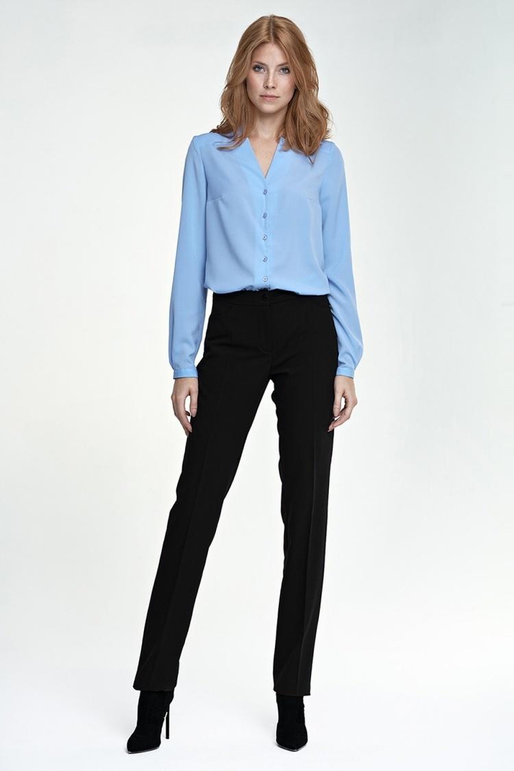 Eleganckie spodnie SD25 czarny - Nife