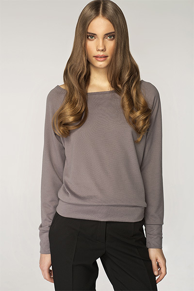 Sweter Damski Model SW01 Grey - Nife