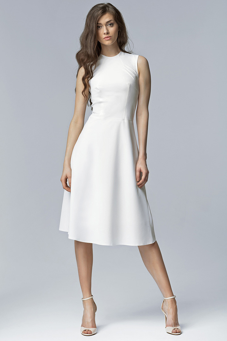 Sukienka Model S62 Ecru - Nife