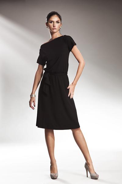 Sukienka S13 Czarny - Nife