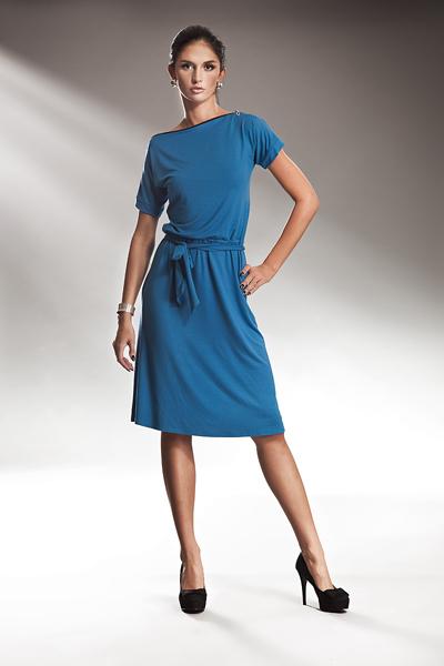 Sukienka S13 Niebieski - Nife