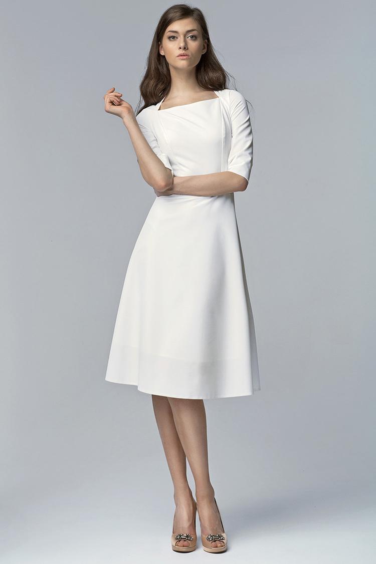 Sukienka Model S63 Ecru - Nife