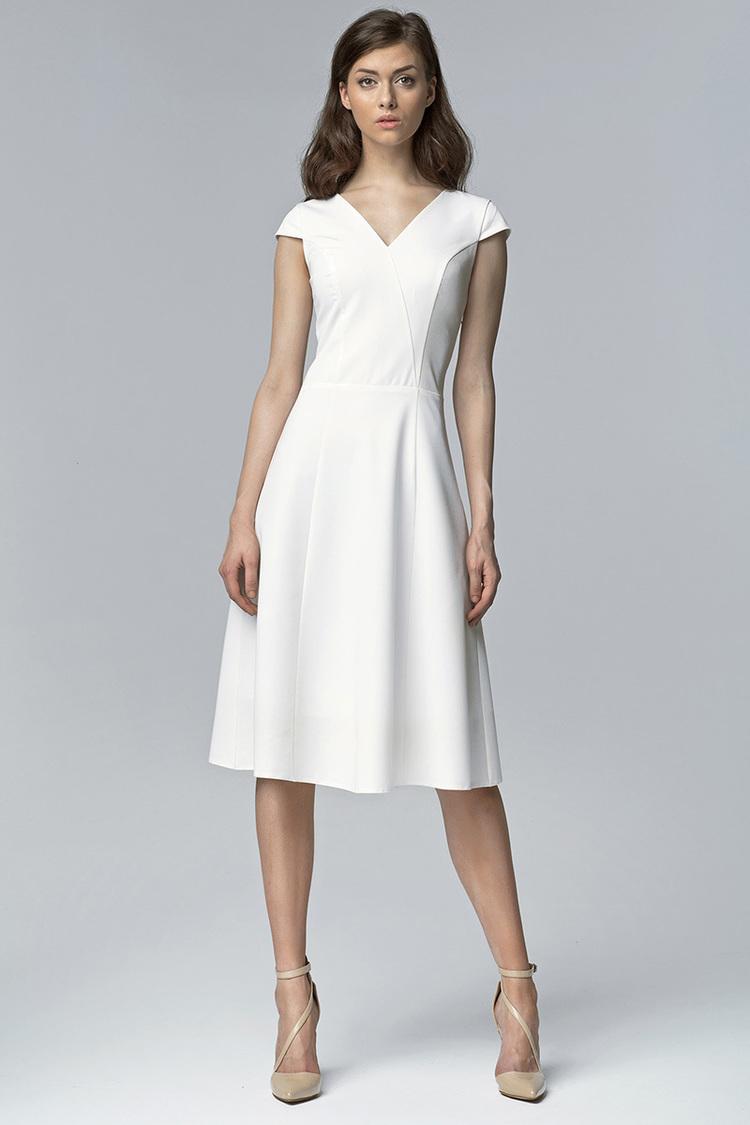 Sukienka Model S60 Ecru - Nife