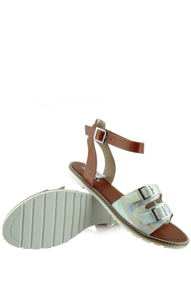 Sandały Model KB2015l-139-3w Silver - Heppin