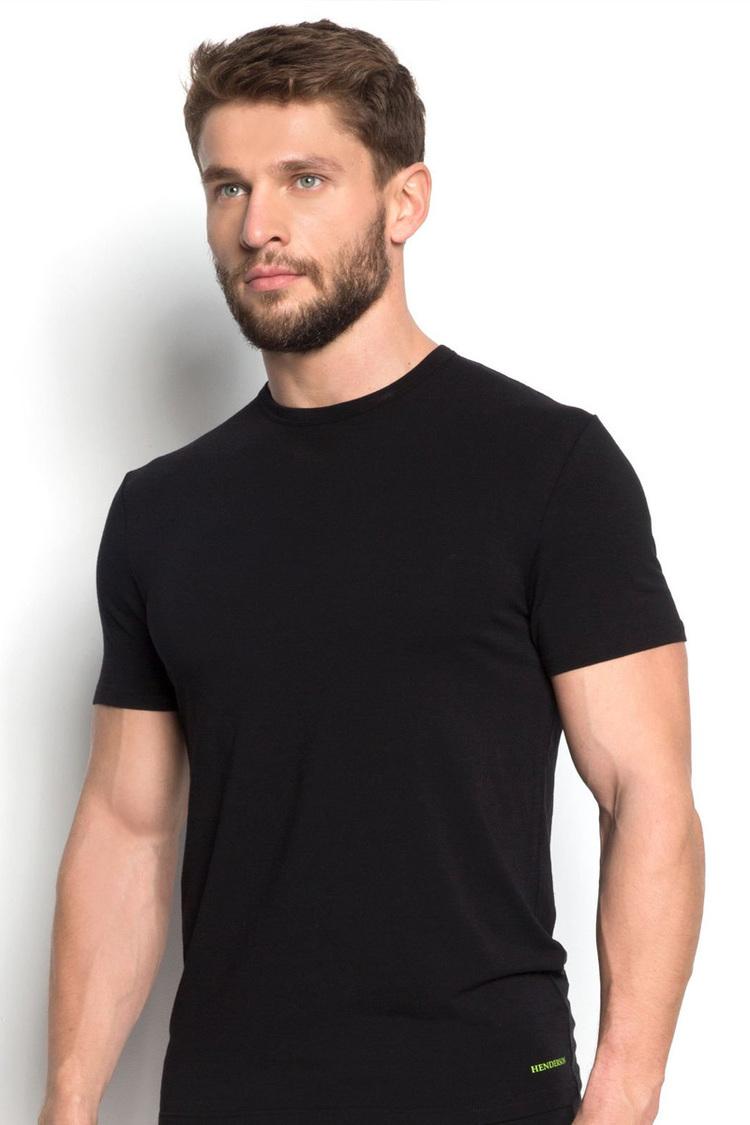 Tshirt Męski Model Grade 34324-99X Black - Henderson