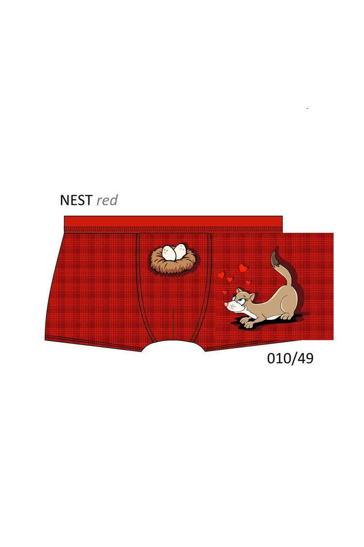 Bokserki Model Nest 010/49 Gift Box Red - Cornette