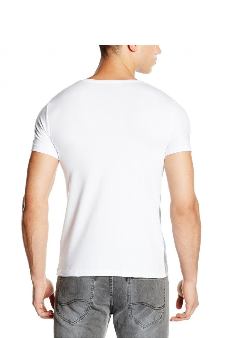 Tshirt Męski Model 17162 Blue/White - YourNewStyle