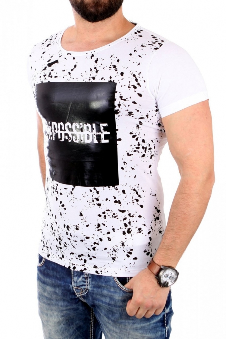 Tshirt Męski Model 17179 White - YourNewStyle