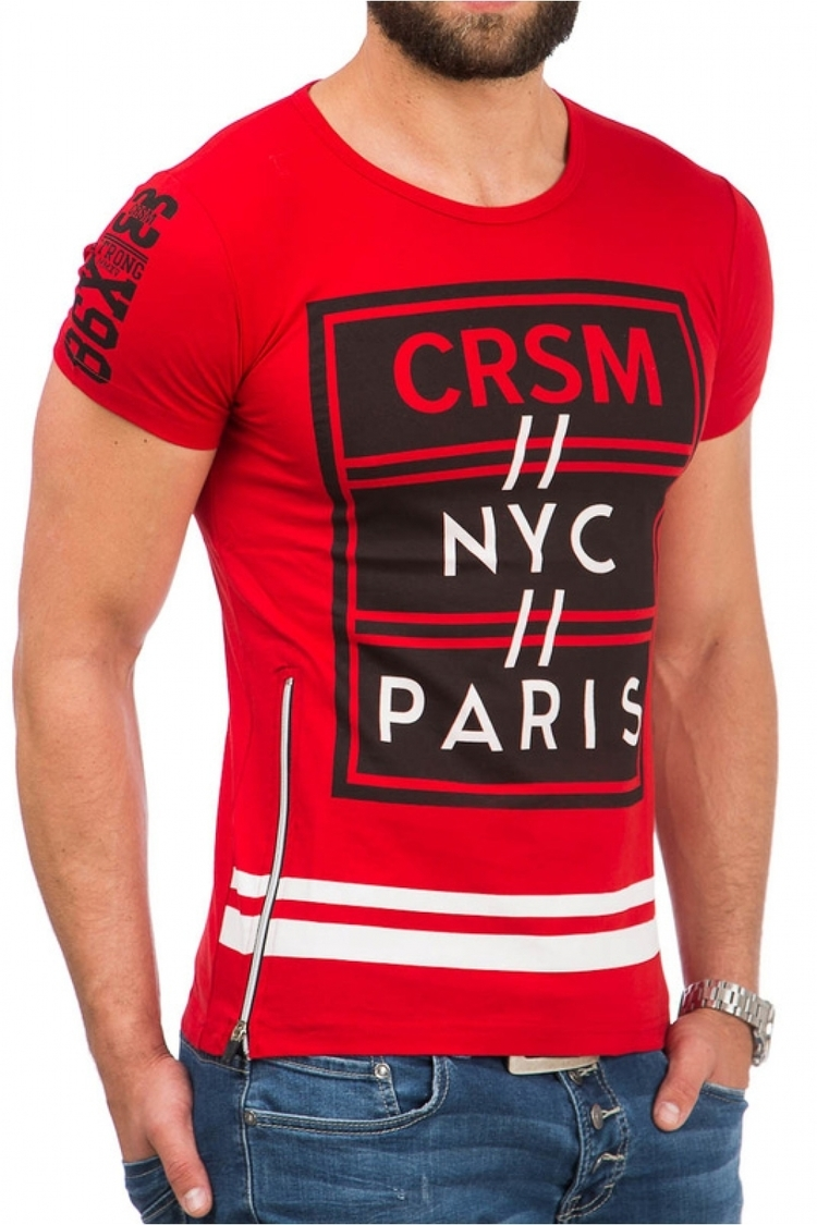 Tshirt Męski Model 17189 Red - YourNewStyle