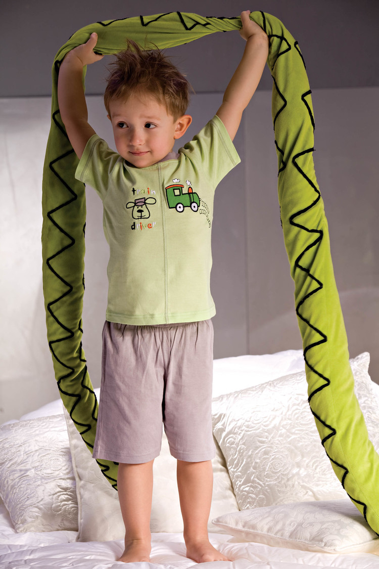 Piżama Model Samuel 2973 Grey/Green - Piccolo Meva