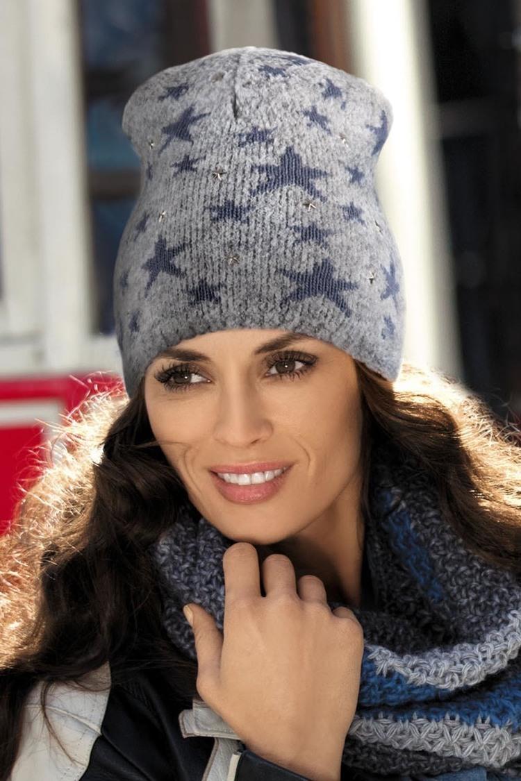 Czapka Damska Model Sara Light Grey - Kamea