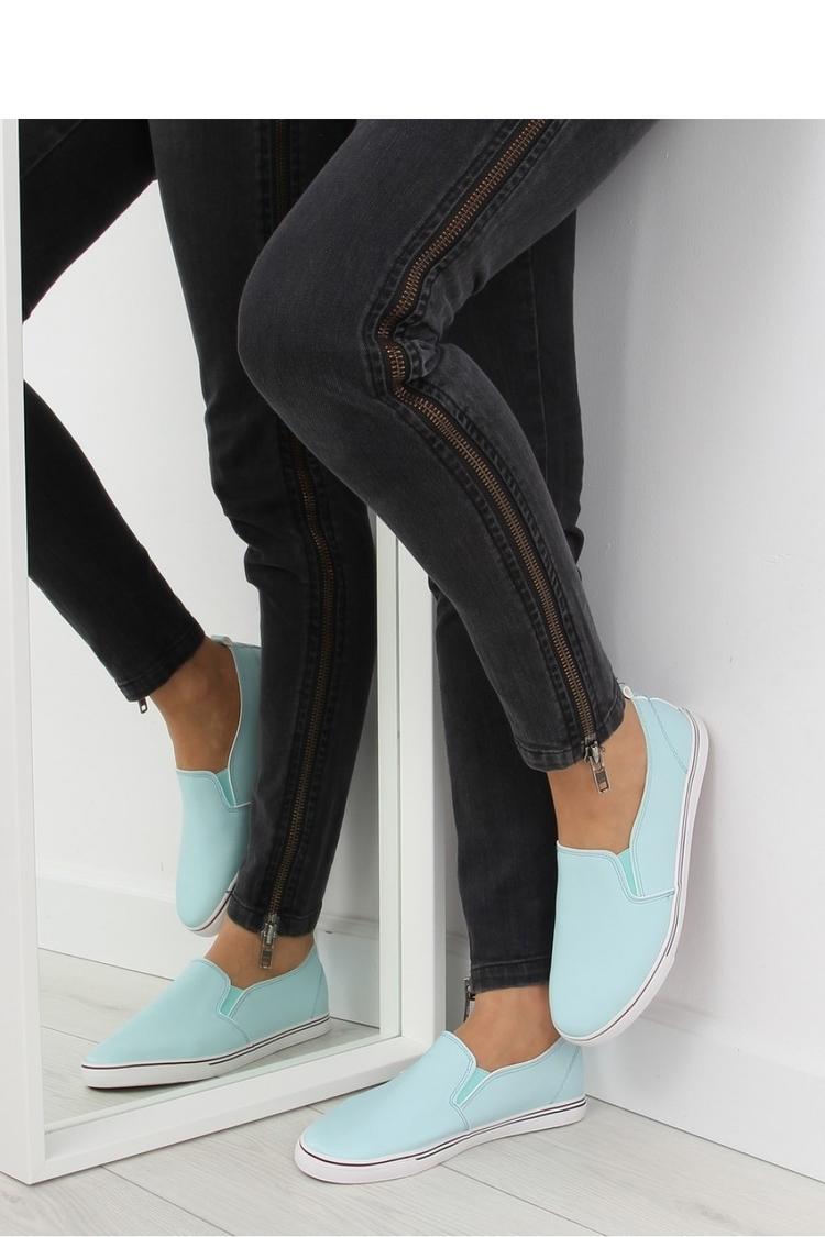 TRAMPKI SLIP-ON LICOWE NIEBIESKIE XL08P L.BLUE - Inello