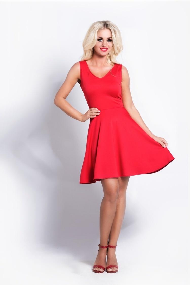 Sukienka lily red S16B Czerwony - Cocoviu
