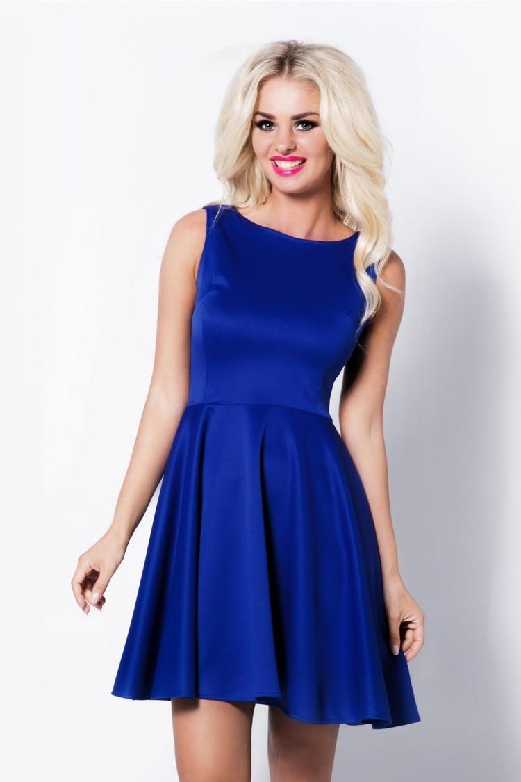 Sukienka lily II royal blue S18A Niebieski - Cocoviu