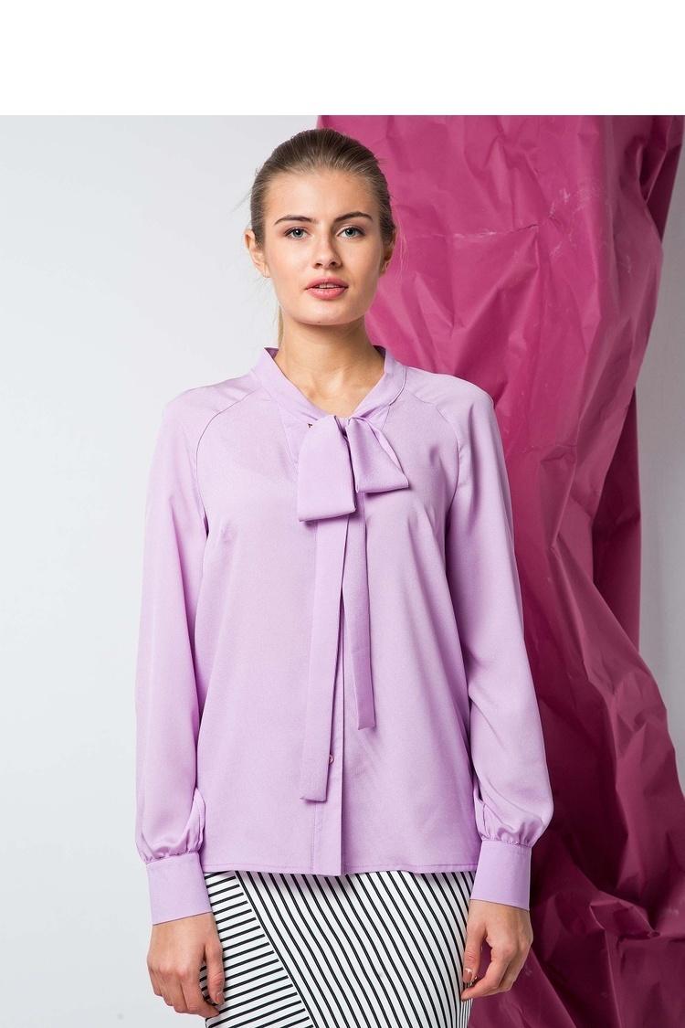 Modna bluzka o luźnym kroju GR1331 Liliowy - GrandUA