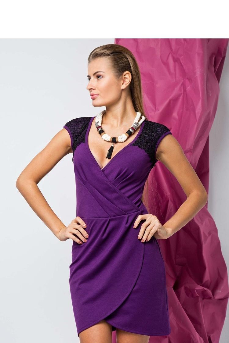 Sukienka Elegancka sukienka idealna dla modnych kobiet liliowy - GrandUA