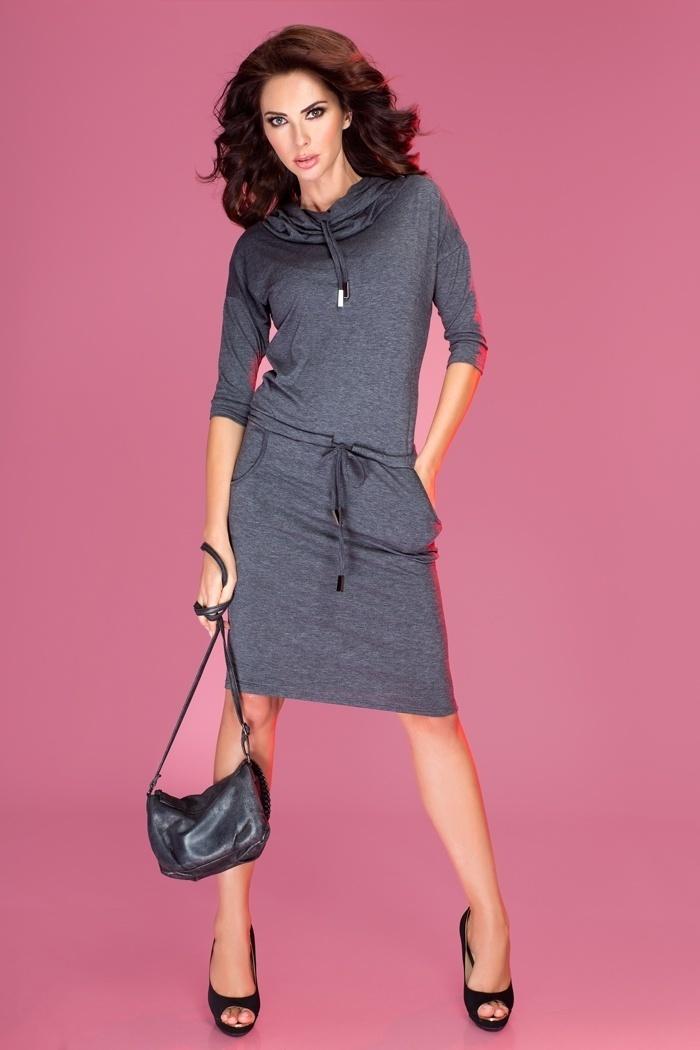 Sukienka Model 44-1 Grey Grafit  - Numoco