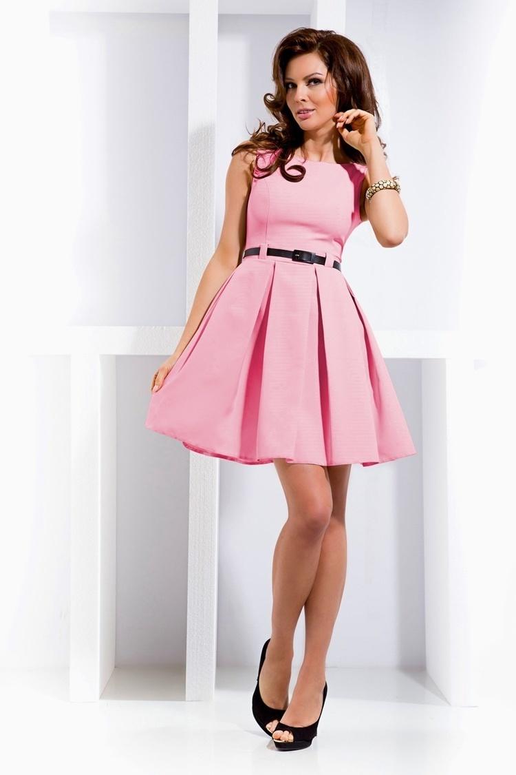 Sukienka Model 6-5 Pastelowy Róż  - Numoco