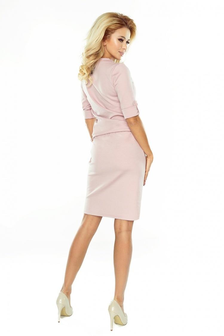 Sukienka Model 161-5 Agata Dirty Pink - Numoco