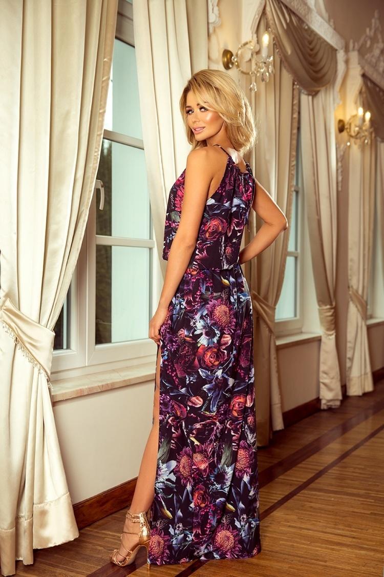 Sukienka Model 191-1 Violet Flowers - Numoco