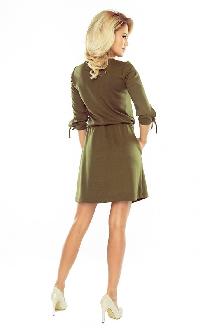 Sukienka Model 176-2 Ewa Khaki - Numoco