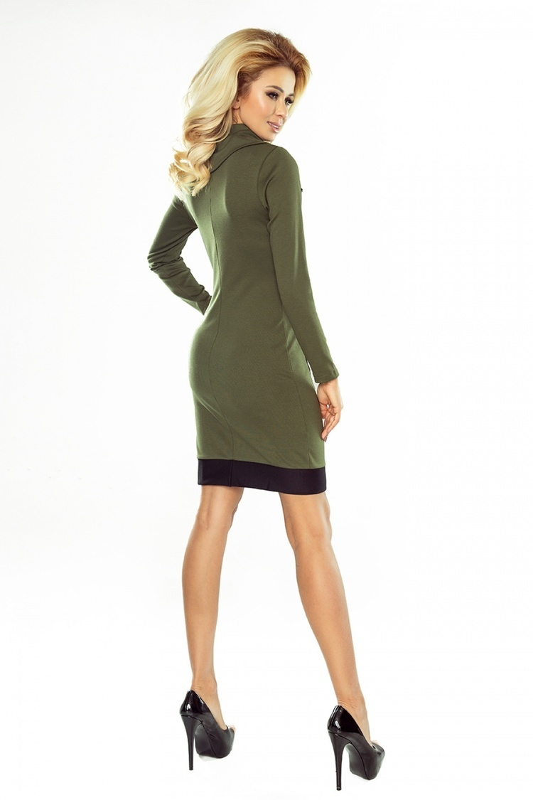 Sukienka Model 129-7 Justyna khaki/Black - Numoco