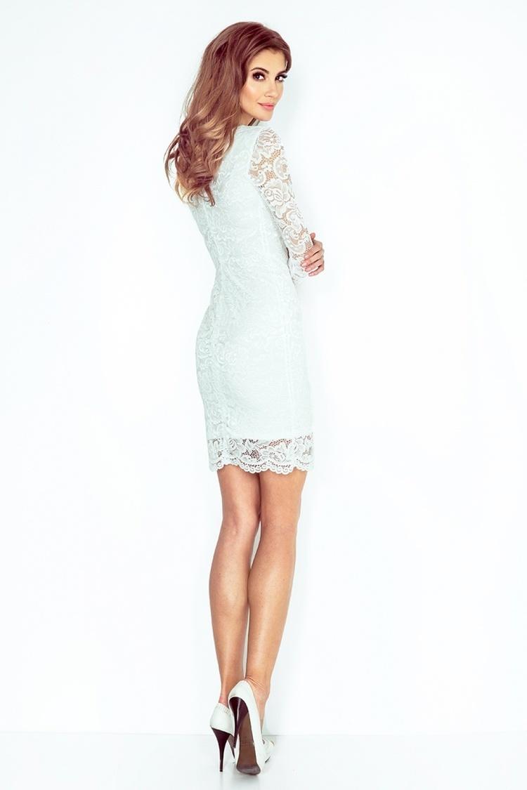 Sukienka Model 145-3 Ecru - Numoco