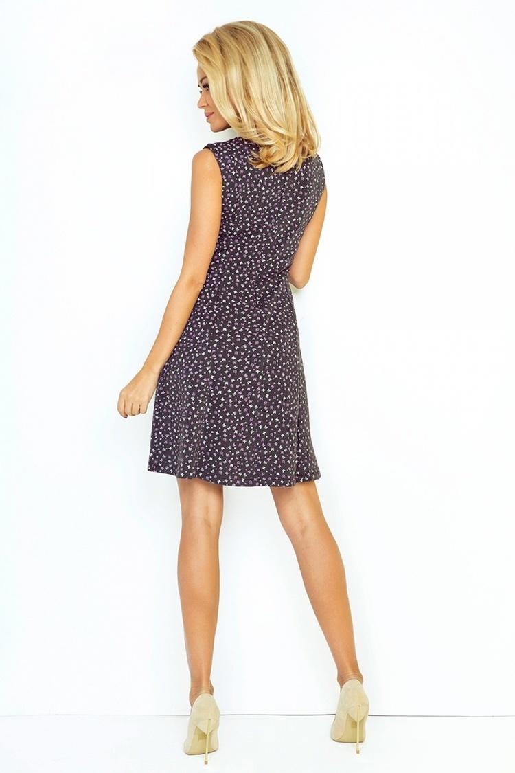 Sukienka Model 137-3 Grafit/Violet Motyl - Numoco