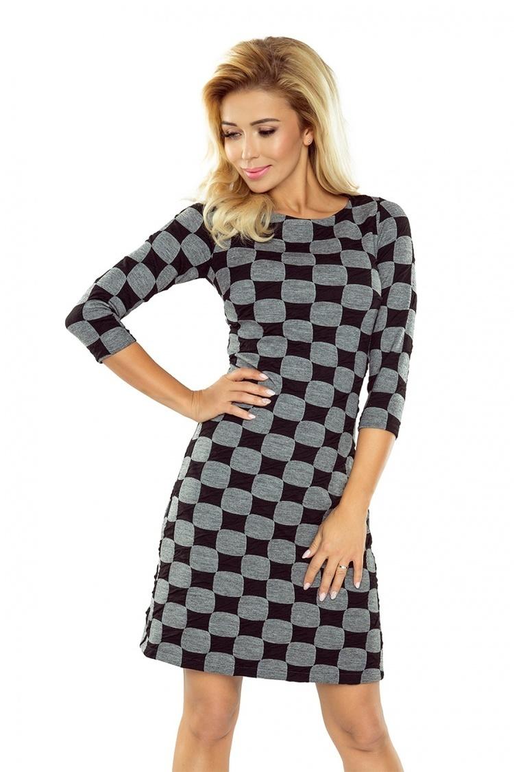 Sukienka Model 164-1 Black/Grey - Numoco