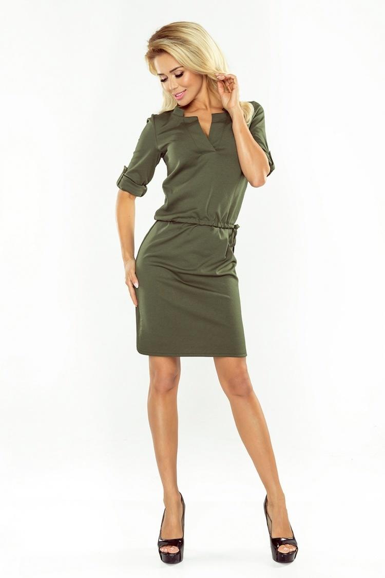 Sukienka Model Agata 161-2 Khaki - Numoco