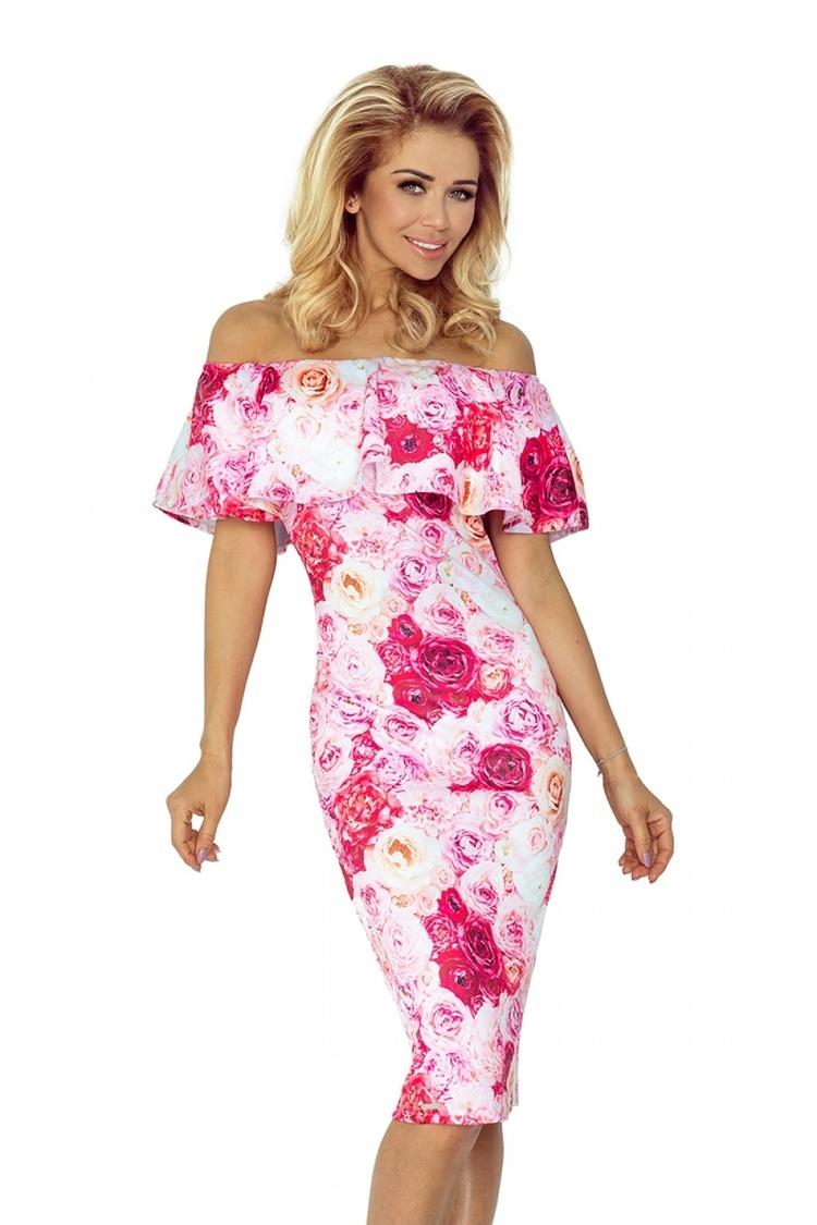 Sukienka Model 138-6 Pink - Numoco