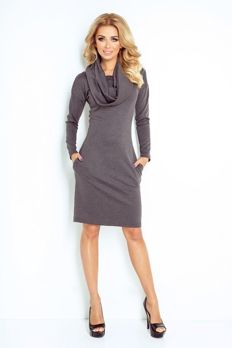 Sukienka Model 131-3 Grey Grafit - Numoco