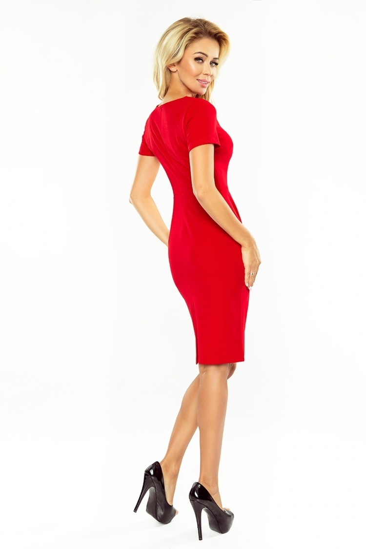Sukienka Model 150-2 Dorota Red - Numoco