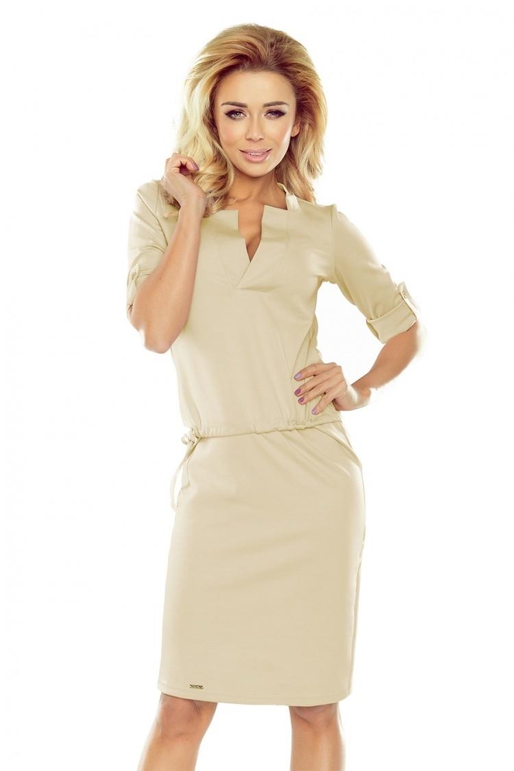 Sukienka Model Agata 161-6 Beige - Numoco