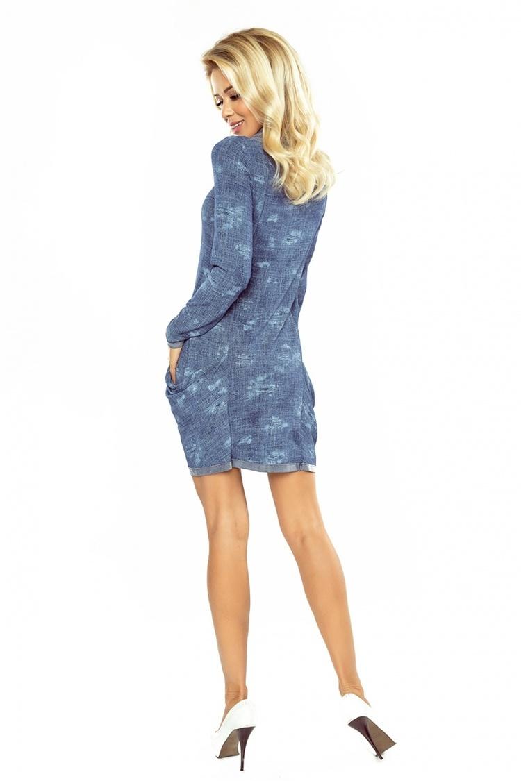 Sukienka Model 135-5 Golf Jeans Blue - Numoco
