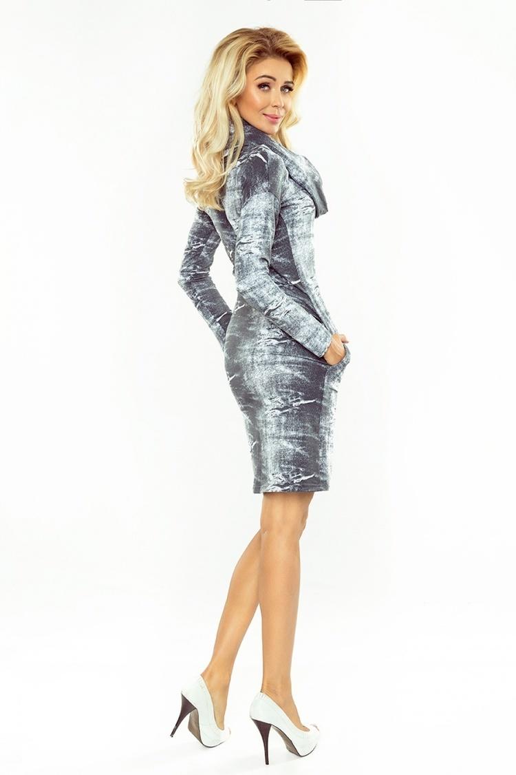 Sukienka Model 131-7 Grey Jeans - Numoco
