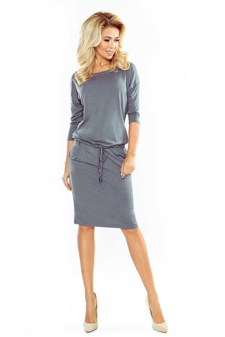 Sukienka Model 13-75 Dark Grey - Numoco